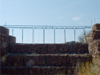 Gabion River Construction with Flood Gates and Controllers